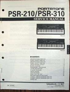 Yamaha Original Service Manual for the PSR 210 / PSR310 Portatone