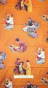 Norman Rockwell Families Mother Father Children Family Novelty Cotton