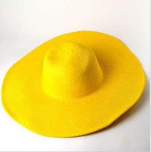 Ladies Wide Large Brim Summer Beach Sun Hat Straw Derby Cap
