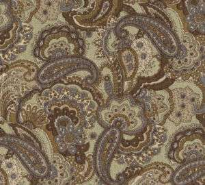 Paisley Silhouette Olive Green Quilting Sewing Fabric