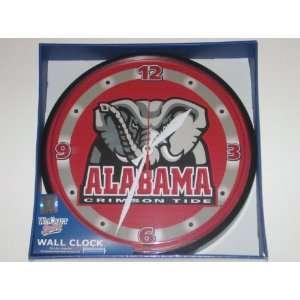 ALABAMA CRIMSON TIDE 12 Team Colors & Logo Round WALL CLOCK