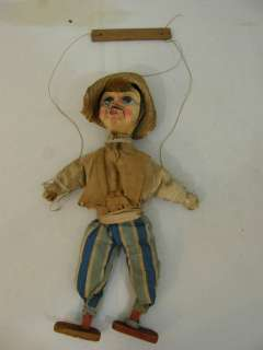 ANTIQUE FOLK ART MARIONETTE PUPPET DEPICTING A PEASANT ORG CLOTHING