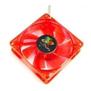 Logisys LT80UVRD UV Red LED 80mm Case Fan with 4 Pin