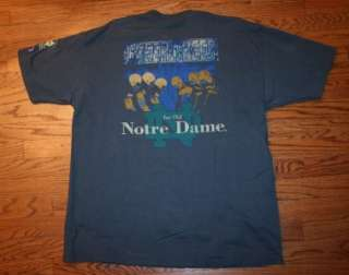 Vintage 1997 CHEER FOR OLD NOTRE DAME Football Tradition CHAMPION T