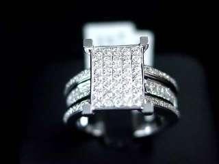 WOMENS DIAMOND ENGAGEMENT RING 14K WHITE GOLD ROUND