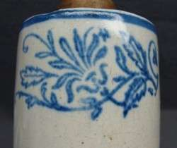 Red Wing Decorated Stoneware Avertising Blue and White Rolling Pin NR