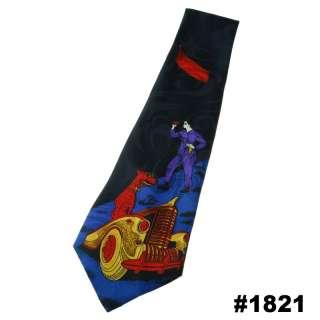 Silk Navy Blue Car Dog Man Novelty Mens Necktie Neck Tie #1821