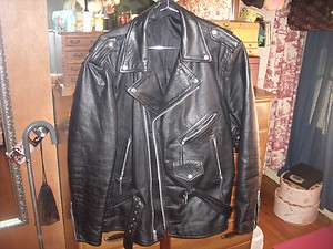 Black Leather Motorcycle Jacket~Ready for your Harley Davidson Patch