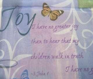 INSPIRATIONS Faith Peace Joy Love Fabric Shower Curtain