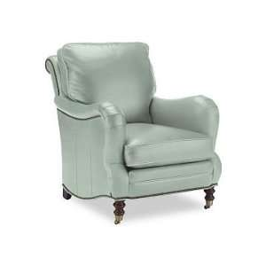 Williams Sonoma Home Drew Chair, Leather, Light Blue