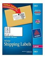 5163 on popscreen for 2x4 shipping label template
