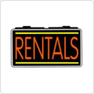LED Neon Sign Cars Rental Rentals 13 x 24 Simulated Neon Sign at