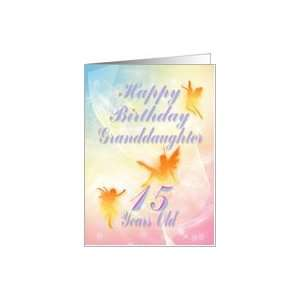 Dancing fairies Birthday card, granddaughter, 15 years old