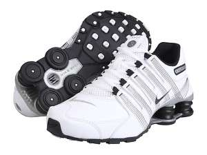 NEW BOY/ WOMEN NIKE SHOX NZ 2.0 (GS) WHITE BLACK SILVER