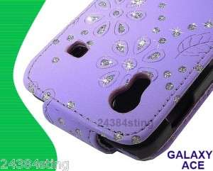 DIAMOND LEATHER FLIP CASE for SAMSUNG GALAXY ACE S5830