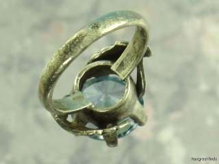 MEXICAN MEXICO TAXCO 925 STERLING SILVER 5 CT GENUINE BLUE TOPAZ RING