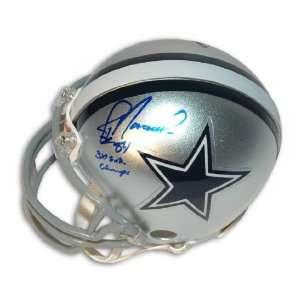 Jay Novacek Autographed Dallas Cowboys Mini Helmet Inscribed 3X SB