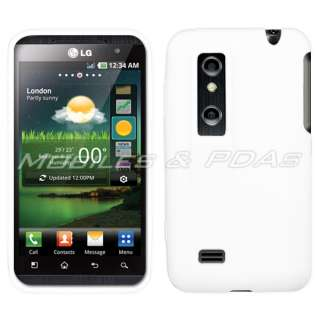 Cover Case+2x Films+Car Charger for LG Thrill 4G Optimus 3D