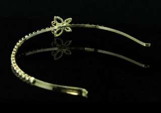Butterfly Gold Plat Bridal Wedding Headband Tiara T1208