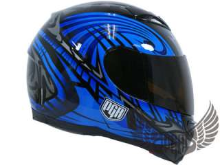 Smoke Shield Visor PGR Helmet Full Face StreetBike 500