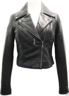 WOMENS Lambskin Leather Slim Biker Jacket   SUPER SOFT CUTE FITTED
