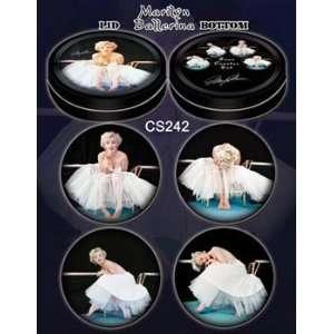 Ballerina Pin up Marilyn Monroe Coasters in Tin