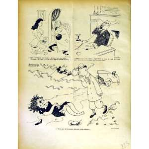 LE RIRE FRENCH HUMOR MAGAZINE CARTOONS MOTOR CAR MEN: Home & Kitchen