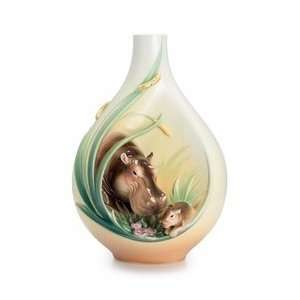 Safari Jungle Beauties Hippo/baby mid size vase: Everything Else