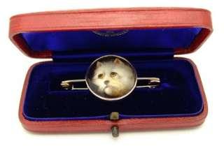 GOLD ENAMEL WEST HIGHLAND WHITE CAIRN TERRIER DOG BROOCH PIN