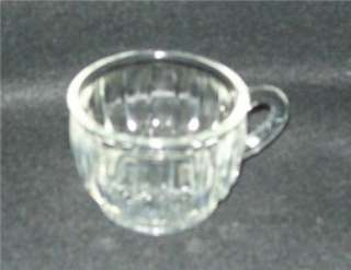 COLONIAL LADY CRYSTAL GLASS TEA COFFEE CUP WITH SNACK TRAY SETS 1950s