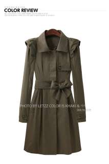 Korean High Fashion Brand Shoulder Pleated Trench Coats