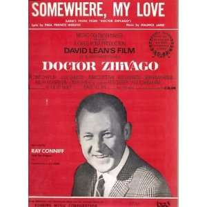 Sheet Music Somewhere My Love Paul Francis Webster Maurice