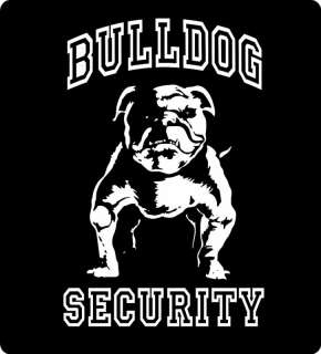 English BULLDOG Security XXL Graphic T Shirt NEW BLACK