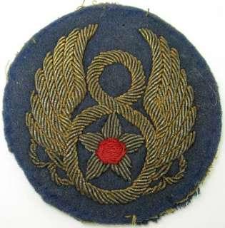 Vintage WWII 8th Air Force bullion shoulder patch