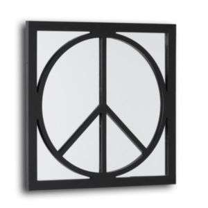 PEACE SIGN WALL MIRROR~HIPPIE DECOR~60S~DORM~TEEN~BLACK