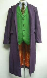 DELUXE JOKER FULL COSTUME Halloween Coat Vest Shirt Socks Tie batman