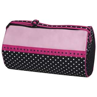 Sophias Style Sassi Black Pink Dots Medium Girls Duffel Bag With Side