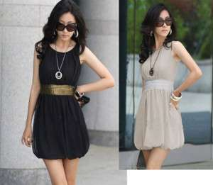 Women Stylish Chiffon Tunic Sleeveless Short Mini Dress