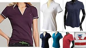 Womens TOMMY HILFIGER Designer Polo T Shirt Top *RRP £40+*