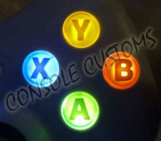 Xbox 360 controller A, B, X, Y buttons LED lighting kit