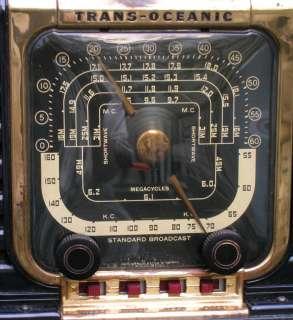 Vintage Zenith Transoceanic 6 Band Shortwave SW Tube Radio 5G40