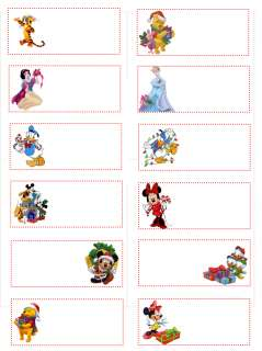 Disney Mickey Mouse Christmas Gift Tags 24 Tags Pack