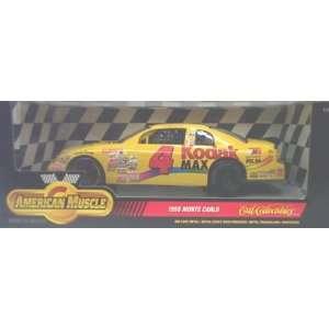 Ertl American Muscle 7916 1998 Monte Carlo #4 Kodak Nascar Yellow 118