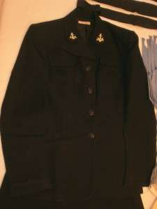 LARGE WWII NAVY WAVES UNIFORM LOT SMALL named |