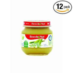 Beech Nut Tender Sweet Peas Stage 1, 2.5 Ounce Jars (Pack of 12