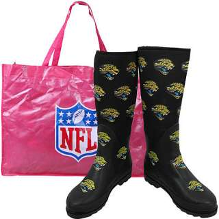 Cuce Shoes Jacksonville Jaguars Womens Enthusiast Rain Boot