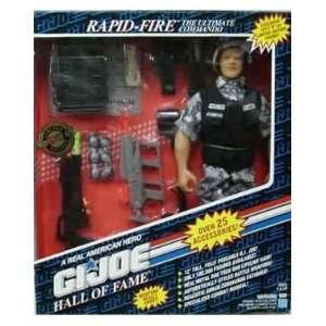 Rapid Fire The Ultimate Commando 12 GI Joe Hall of Fame Figure w/over