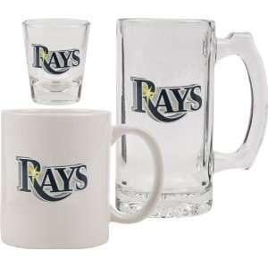 Tampa Bay Rays Glassware Set 3D Logo Tankard, Coffee Mug, Shot Glass