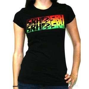 SRH Womens Rasta Caution T Shirt   Small/Black