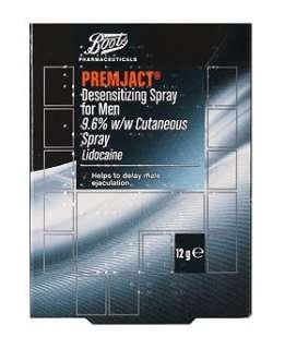 Boots Pharmaceuticals Premjact Desensitizing spray for men   12g